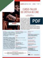 CURSO-TALLER  Crítica de Cine 2013-2014
