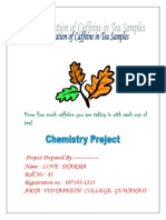 CBSE XII Chemistry Project Determination of Caffeine in Tea Samples