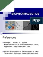 Biopharmaceutic I,II, III