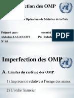 Les Imperfections Des OMP
