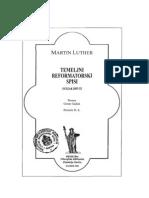 Temeljni Reformatorski Spisi 2 - Luther