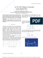 Control of AC-DC Matrix Converter Using Digital PLL