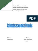 actividades economicas primarias
