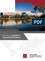 Admissions Standards for International Students