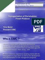 AIMU - Transportation of Perishables