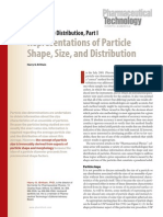 Representation of particle size, shape and distribution - Pharmaceutical.pdf