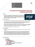 The OAuth 2.0 Authorization Framework