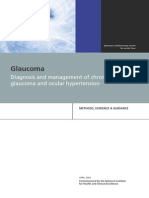 Glaucoma NICE Guidelines