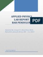 Bar Pendulum Lfhfhfab Report