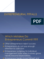 Ed Lecture Entrepreneurial Pitfalls