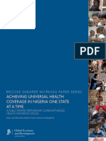 Achieving Universal Health Coverage in Nigeria
