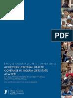 Achieving Universal Health Coverage in Nigeria