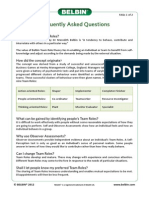 Belbin Frequently Asked Questions