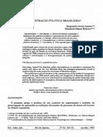 A Administração Política Brasileira