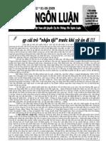 Bán nguyệt san Tự do Ngôn luận số 82 (01-09-2009)