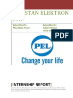 INTERNSHIP REPORT ON PEL