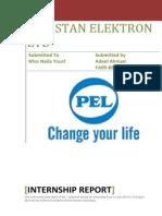 Internship Report  ON PEL