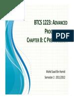 BTCS 1223_Chap8_Preprocessor