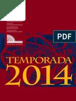 Teatro Colon Temporada 2014 Guia Anual de Funciones