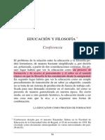 Filosofia y educación