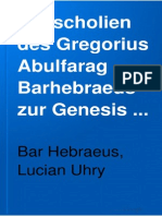 Scholia Bh GenDie scholien des Gregorius Abulfarag Barhebraeus zur Genesis capitel 21 bis 50