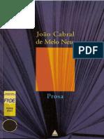 MELO NETO, João Cabral de - Prosa
