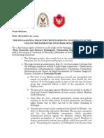 Milwaukee Conference Declaration