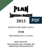 Plan Supervisin Monitoreo 2013