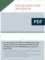 REDACCIÓN DE ARTÍCULOS CIENTÍFICOS