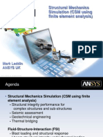 ANSYS Structural Mechanics Simulation June 2011