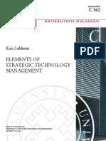 Elements of Strategic Technology Management