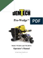 Pro Wedge ( PW) VM 20 Manual