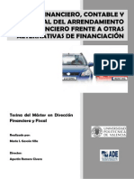 Tesina Analisis Financiero, Contable y Fiscal Del Arrendamiento Financiero