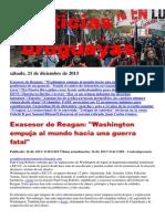 Noticias Uruguayas sábado 21 de diciembre del 2013