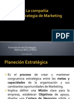 LA COMPAÑIA Y SU ESTRATEGIA DE MARKETING CCS