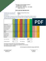 Certificado Para La Distrital