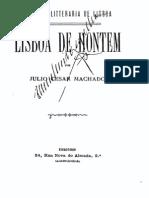 Lisboa de hontem, por Julio Machado