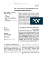 The role of renewable energy sources on electricity prices in Spain. A maximum entropy econometric model