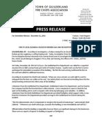 Press Release, Carman Road Fire