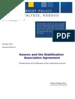 Kosovo and the Stablization Association Agreement_KAS_November2013