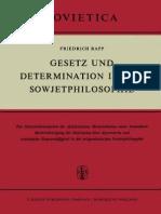 Rapp-gesetz Und Determination in Der Sowjetphilosophie