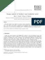 Energy Analysis of Jordan's Rural Residential Sector