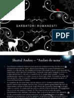 Sarbatori Romanesti - powerpoint