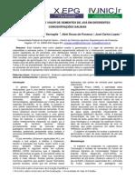 C - GERMINAÇÃO E VIGOR DE SEMENTES DE JOÁ EM DIFERENTES CONCENTRAÇÕES SALINAS