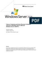Failover Clustering and Active Directory Certificate Services in Windows Server 2008 and Windows Server 2008 R2