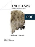 Ancient Hebrew A Student Grammar
