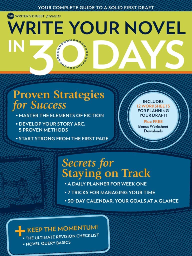 Write your novel in 30 days self esteem fandeluxe Images