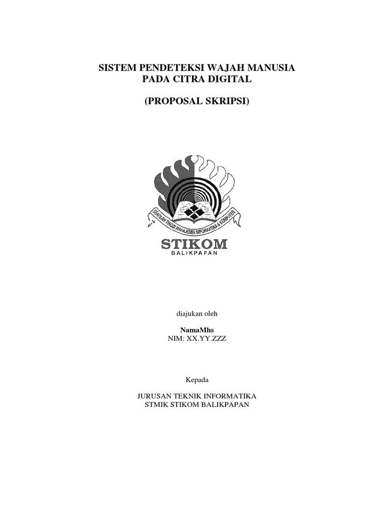 Contoh Proposal Skripsi Teknik Informatika