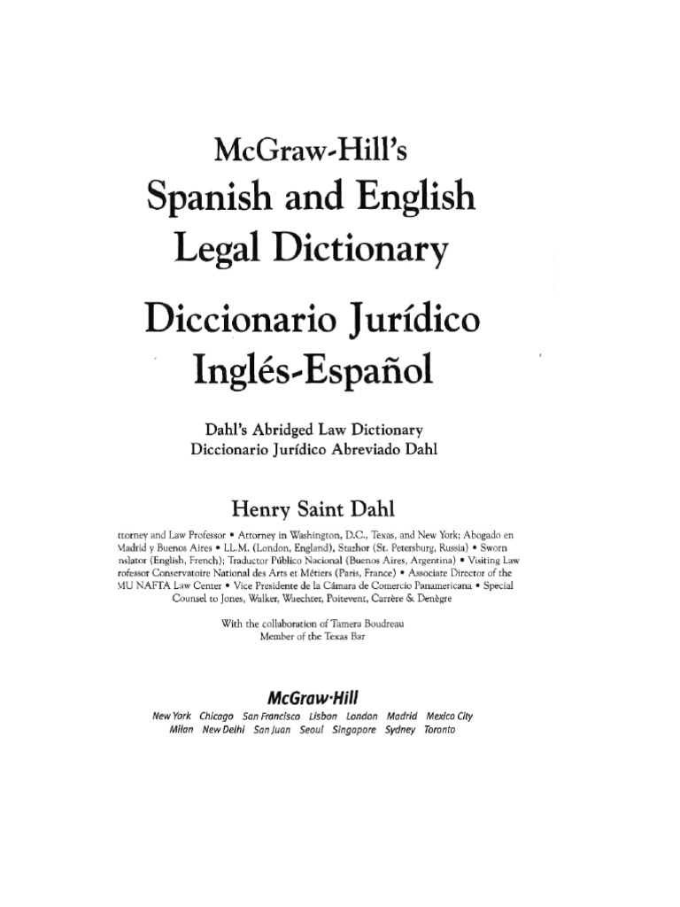 Spanish and English Legal Dictionary | Offer And Acceptance | Prosecutor