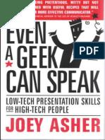 Even a Geek Can Speak